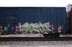 Jake (quiet-silence) Tags: graffiti graff freight fr8 train railroad railcar art jake gk boxcar aok aok116720