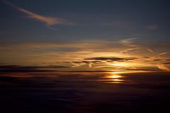 Sunset With Multiple Layers (ckilger) Tags: leicam10 aposummicronm1290asph sun sonne sonnenuntergang wolken himmel flugzeug farbe color wolkenschichten blau rot orange