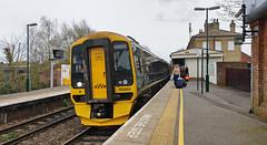 158952 Romsey 05/04/2019 (Flash_3939) Tags: 158952 class158 dmu dieselmultipleunit gwr greatwesternrailway romsey rom 1f24 station fosw rail railway train uk april 2018