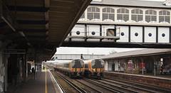444003 & 444035 Eastleigh 05/04/2019 (Flash_3939) Tags: 444003 444035 class444 emu electricmultipleunit thirdrail swr southwesternrailway eastleigh esl station 1w25 1w18 fosw rail railway train uk april 2018