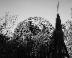 "Southwest Greenway Sculptures (woody lauland) Tags: tx atx ""austintx"" texas austin muelleraustin rmma garden publicart art sculptures blackandwhite monochrome"