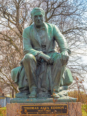 Thomas A. Edison. (Greg Jarman) Tags: greenfieldvillage michigan dearborn tourist attraction statue edison omd em5 mk ii micro four thirds m43