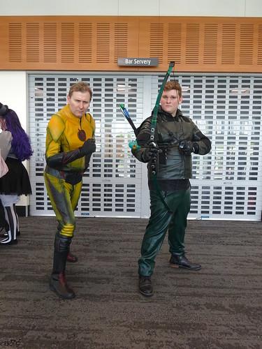 Green Arrow and Eobard Thawne