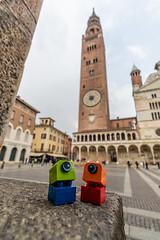 Look at the Torrazzo of Cremona, it's soooo tall (Ballou34) Tags: 2019 7dmark2 7dmarkii 7d2 7dii afol ballou34 canon canon7dmarkii canon7dii eos eos7dmarkii eos7d2 eos7dii flickr lego legographer legography minifigures photography stuckinplastic toy toyphotography toys stuck in plastic torrazzo cremona bricks tall height clock tower church plaza