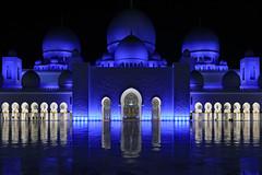 Abu Dhabi Blue (HWHawerkamp) Tags: uae abu dhabi mosque sheik zayed blue night graphics colours travel