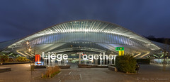 Gare des Guillemins (vanregemoorter) Tags: station gare liège bluehour night