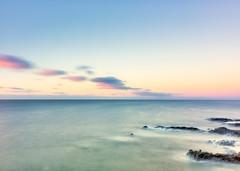 Granadilla de Abona, Tenerife (S. Hernández) Tags: sea clouds rocks silkeffect fujifilm fujifilmxt20 tenerife blue amanecer twilight mar islascanarias canarias canaryisland infinity nubes paz peace relax
