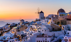 _MG_9564 - Oia mills in twilight (AlexDROP) Tags: 2017 europe greece santorini oia greek sea travel color city urban cityscape bluehour architecture mill skyline canon6d ef241054lis best iconic famous mustsee picturesque postcard