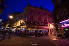 Flower Bar (PaaulDvD) Tags: bordeaux city gironde aquitaine france colors reflet sun sunset blue urbanscape cityscape