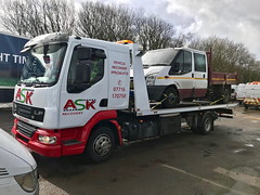 BN11ERV Recovering Transit Tipper (JAMES2039) Tags: tow towtruck truck lorry 4wheeler daf lf 45 tipper flatbed ford cardiff rescue breakdown ask askrecovery recovery bn11erv sla superlowapproach demountable transit
