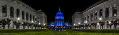 autism awareness month at city hall (pbo31) Tags: sanfrancisco california nikon d810 color night dark black city urban april 2019 pbo31 boury panoramic large stitched panorama cityhall civiccenter blue