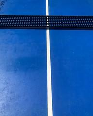 tennis table (omvkdckl95) Tags: pingpong tennistable geometric blue abstract milano nabamilano italy blu colore campo rete iphonex
