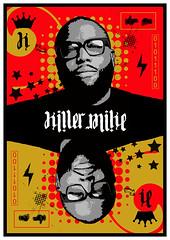 Killer Mike - red/gold (id-iom) Tags: killer mike trigger warning netflix runthejewels graffiti mural wallneeded youchoose art design ambigram upsidedown digital stencil artbycommittee