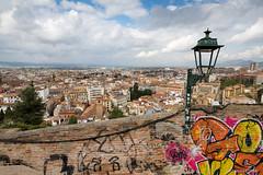 Street art in Albayzín (Granada) (cedant1) Tags: mirador lona albayzín granada picturesque spain espagne europe espana andalousia andalousie grenade europa clouds nikon nikond750
