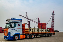 Loaded @ Mammoet With Supports going to Alkmaar