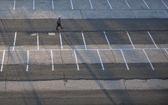 Long Shadows in the Parking Lot (dcnelson1898) Tags: sacramento sacramentocounty city capital centralvalley california america usa unitedstates