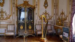 Chantilly, Oise - France (Mic V.) Tags: château de chantilly chateau castle renaissance building architecture french history histoire france oise salon musique music room harp harpe condé conde prince duke duc bourbon