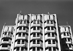 blazkowiczii (songhula) Tags: black white canon ae 1 film japanese camera hunter architecture building