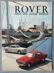 Rare 1966 17 page advertising booklet for the Rover 2000 and 3-Litre models (D70) Tags: rare 1966 17 page advertising booklet for rover 2000 3litre models burnaby britishcolumbia canada