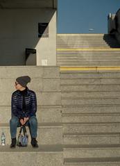pass (BAARph) Tags: mtl50 kodak ultramax 400 stairs girl