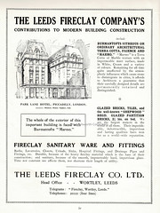 The Leeds Fireclay Company's contributions to modern building : advert issued c1925 in the A centenary of building; Wm. Nicholson & Son (Leeds) Ltd, brochure c1925 (mikeyashworth) Tags: mikeashworthcollection leeds leedsfireclaycompany wortley burmantofts faience terracotta construction building architecture architecturalfinishes marmo parklanehotel london advert c1925 tradejournal companyhistory williamnicholsonsonltd henrytanner architect illustration londonhotels londonbuildings piccadilly