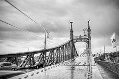 Rainy Bridge (mtop.hh) Tags: mtop blackwhite bridge marktominski streetphotography street city hdr rain 2019 water budapest rossrüti cantonofstgallen switzerland