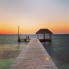 Life is a collection of moments (saebaryo) Tags: instagram ifttt pier ocean water sunset dusk travel vacation tranquil spectre oceanview seaside duo