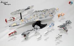 Final Complete Fleet (Jorstad Designs, LLC) Tags: lego star wars rebel alliance fleet mon calamari scale moc ucs jorstad designs llc mc80a mc80b home one liberty cruiser class hammerhead corvette mc30c frigate dp20 blockade runner