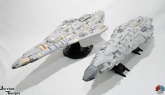 DSC_1480 (Jorstad Designs, LLC) Tags: lego star wars rebel alliance fleet mon calamari scale moc ucs jorstad designs llc mc80a mc80b home one liberty cruiser class hammerhead corvette mc30c frigate dp20 blockade runner