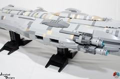 DSC_1469 (Jorstad Designs, LLC) Tags: lego star wars rebel alliance fleet mon calamari scale moc ucs jorstad designs llc mc80a mc80b home one liberty cruiser class hammerhead corvette mc30c frigate dp20 blockade runner