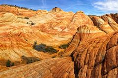 Candy land: Yants Flats Slickrock, St George Utah, USA (swissuki) Tags: yants flats hurricanestgeorge ut us utah sandstone sky mountain nature landscape sand stone navajo jurassic