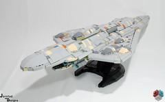 DSC_1350 (Jorstad Designs, LLC) Tags: lego star wars rebel alliance fleet mon calamari scale moc ucs jorstad designs llc mc80a mc80b home one liberty cruiser class hammerhead corvette mc30c frigate dp20 blockade runner