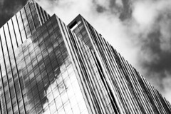 (jfre81) Tags: chicago illinois loop downtown black white blackandwhite bw monochrome building architecture lines diagonal james fremont photography jfre81 canon rebel xs eos
