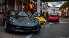 20190417 5DIV Baciami 37 (James Scott S) Tags: boyntonbeach florida unitedstatesofamerica baciami horsepower happy hour cars ferrari corvette c7 canon 5div dusk