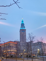 Tower City Center at Dusk (Tom Ipri) Tags: buildings towercitycenter samsunggalaxys9plus architecture cleveland ohio unitedstatesofamerica