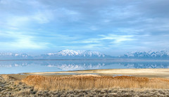 The Great Salt Lake, from Antelope Island (ap0013) Tags: utah ut landscape mountain reflection antelope island statepark antelopeisland greatsaltlake saltlake slc