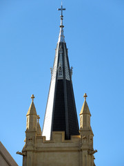 17 July 2018 - Spire of Saint Mary's Cathedral, Victoria Square, Perth, Western Australia (aussiejeff) Tags: 2018 wa australia aussiejeff jeffc canon sx620 powershot saintmary cathedral church historic spire steeple gargoyle perth