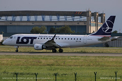 Embraer ERJ-175 (srkirad) Tags: aircraft airplane airliner jet embraer erj175 lot polish takeoff runway airport aerodrom tesla belgrade beograd serbia srbija planespotting hangar