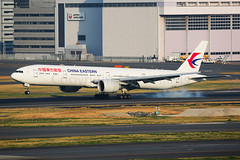 China Eastern Boeing 777-39P/ER B-7349 (Mark Harris photography) Tags: spotting rjtt canon 5d aviation