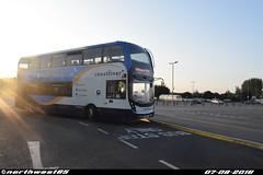 10961 (northwest85) Tags: stagecoach worthing sn18 kod 10961 alexander dennis adl enviro 400mmc 700 littlehampton asda ferring bus coastliner sn18kod