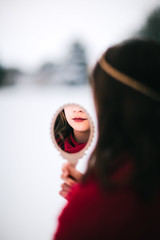 (Rebecca812) Tags: girl queen princess magic fairytale storytelling cloak crown snow winter mirror enchantment canon portrait people bookcover rebecca812
