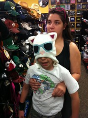Kids in April, 2011 (booboo_babies) Tags: daughter son hat shopping 2011 tbt throwbackthursday kids family april2011
