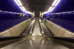Escalator Lines (CoolMcFlash) Tags: escalator lines symmetry person citylife city canon eos 60d rolltreppe linien architecture architektur symmetrie stadt fotografie photography vienna wien sigma 1020mm 35