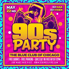 90s Party Flyer Template (XtremeFlyers) Tags: 80s 90s disco flyer template
