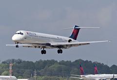 N970DL - 4/14/19 (nstampede002) Tags: delta deltaairlines mcdonnelldouglas mcdonnelldouglasmd80 mcdonnelldouglasmd88 md88 md80 dc9 ttail katl aviationphotography commercialaviation airliner