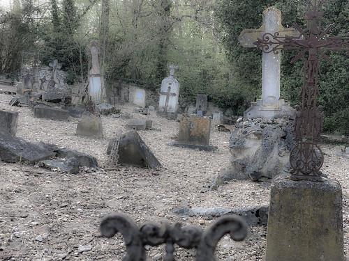 Le vieux cimetière abandonné d'Antogny le Tillac