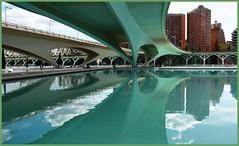 valencia (ANbepLO) Tags: eos 5d markiii valencia spain europe cittàdellascienza riflessi geometrie sea palazzi 10