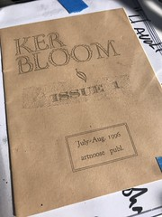 Kerbloom fist issue (artnoose) Tags: art collector first issue punk paper tan collection rare debut 90s zine letterpress kerbloom