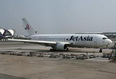 Jet Asia Airways Boeing 767-2J6(ER) HS-JAK (EK056) Tags: jet asia airways boeing 7672j6er hsjak bangkok suvarnabhumi airport