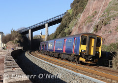 Teignmouth (finnyus) Tags: 150 class150 devon teignmouth 150238